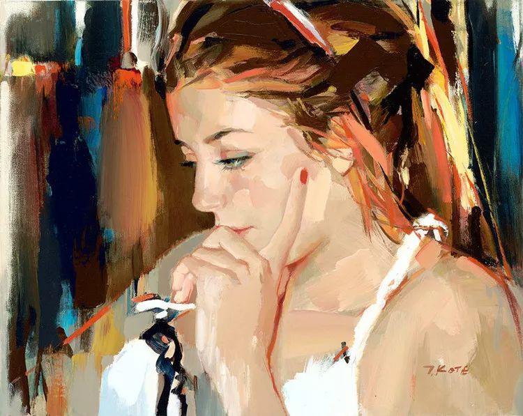 人物油画 阿尔巴尼亚约瑟夫·科特作品二插图11