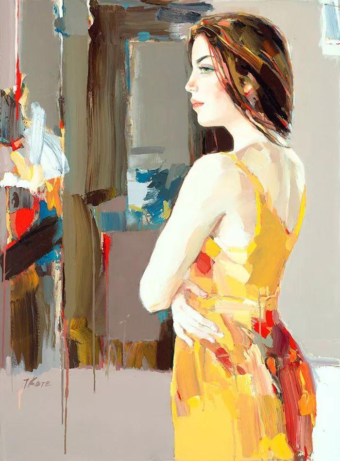 人物油画 阿尔巴尼亚约瑟夫·科特作品二插图17