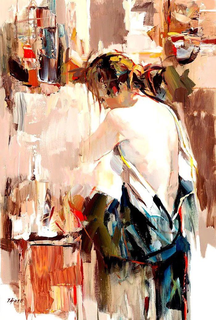 人物油画 阿尔巴尼亚约瑟夫·科特作品二插图23