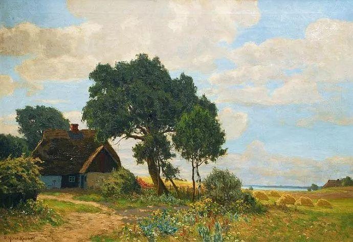 风景油画 德国画家Paul Müller-Kaempff (1861–1941)插图3
