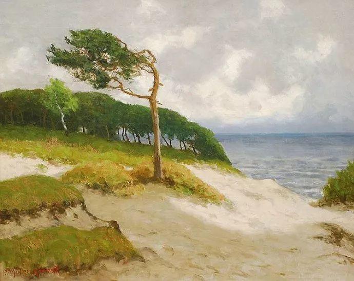风景油画 德国画家Paul Müller-Kaempff (1861–1941)插图7