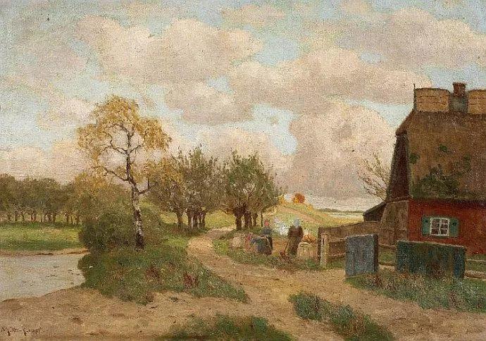 风景油画 德国画家Paul Müller-Kaempff (1861–1941)插图17