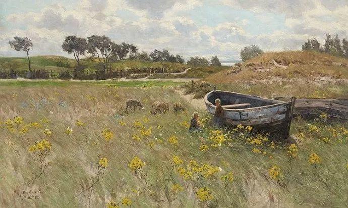 风景油画 德国画家Paul Müller-Kaempff (1861–1941)插图19
