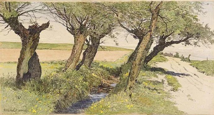 风景油画 德国画家Paul Müller-Kaempff (1861–1941)插图21