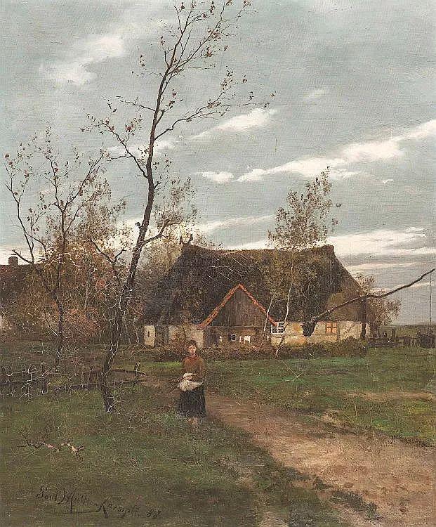 风景油画 德国画家Paul Müller-Kaempff (1861–1941)插图25