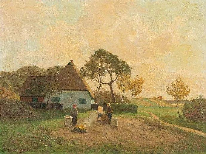 风景油画 德国画家Paul Müller-Kaempff (1861–1941)插图29