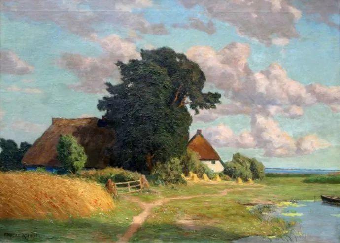 风景油画 德国画家Paul Müller-Kaempff (1861–1941)插图33