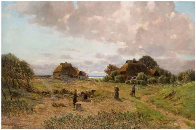 风景油画 德国画家Paul Müller-Kaempff (1861–1941)插图37