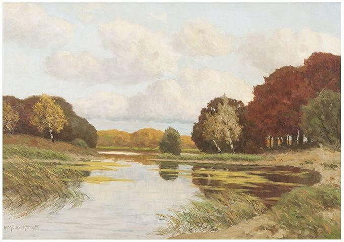 风景油画 德国画家Paul Müller-Kaempff (1861–1941)插图39