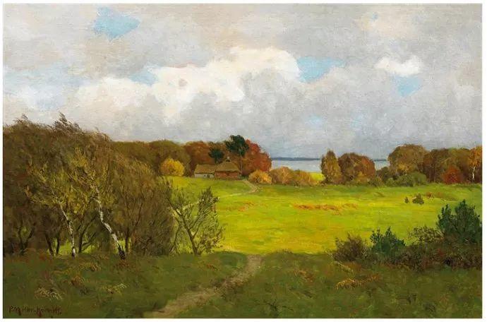 风景油画 德国画家Paul Müller-Kaempff (1861–1941)插图41