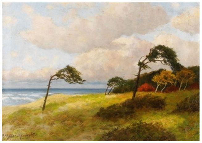 风景油画 德国画家Paul Müller-Kaempff (1861–1941)插图45