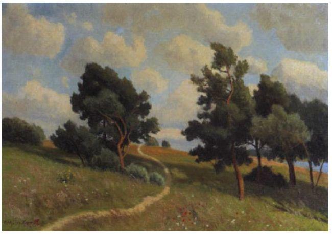 风景油画 德国画家Paul Müller-Kaempff (1861–1941)插图47