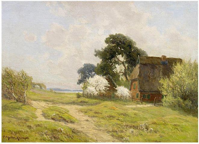 风景油画 德国画家Paul Müller-Kaempff (1861–1941)插图57