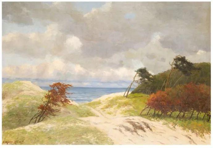 风景油画 德国画家Paul Müller-Kaempff (1861–1941)插图59