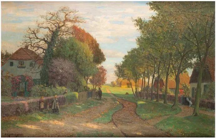 风景油画 德国画家Paul Müller-Kaempff (1861–1941)插图61
