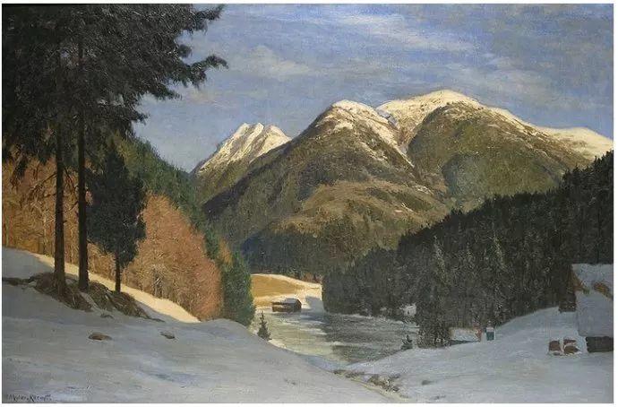 风景油画 德国画家Paul Müller-Kaempff (1861–1941)插图63