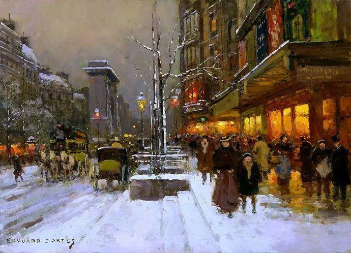 一生只描绘巴黎风情 法国画家Edouard Léon Cortès插图3