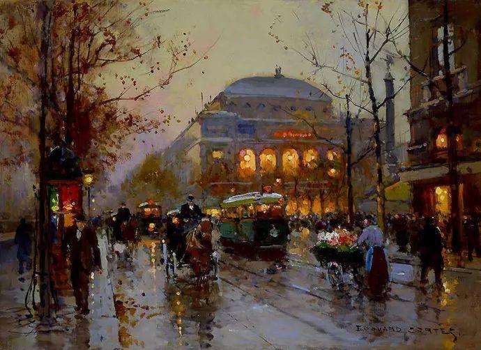 一生只描绘巴黎风情 法国画家Edouard Léon Cortès插图5
