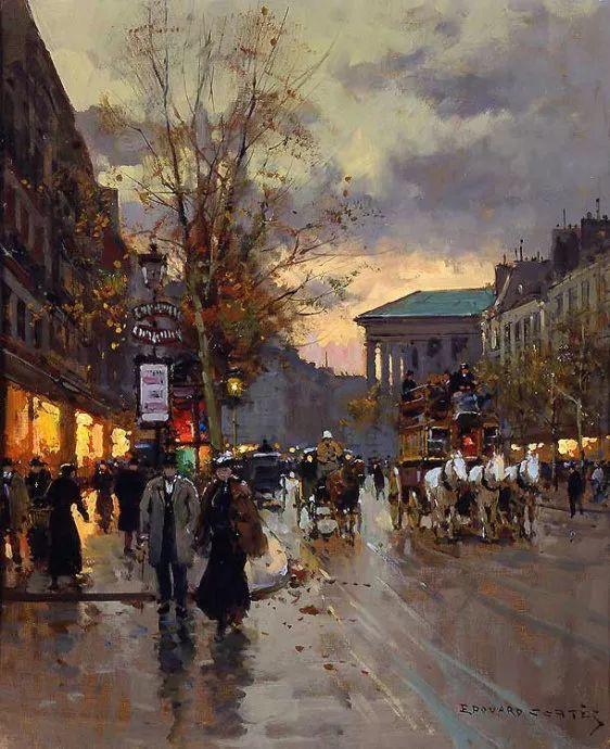一生只描绘巴黎风情 法国画家Edouard Léon Cortès插图7