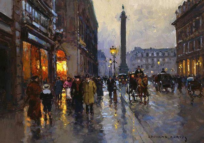 一生只描绘巴黎风情 法国画家Edouard Léon Cortès插图9