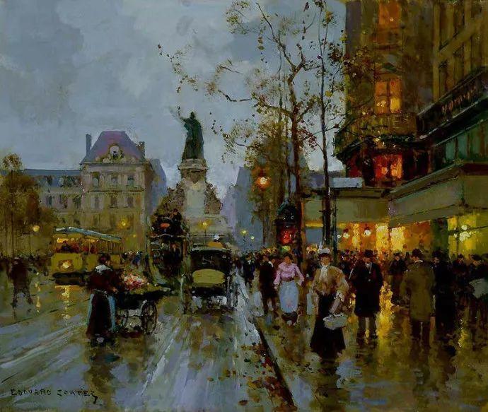 一生只描绘巴黎风情 法国画家Edouard Léon Cortès插图14