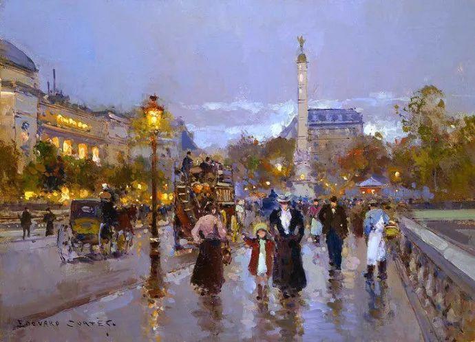 一生只描绘巴黎风情 法国画家Edouard Léon Cortès插图24