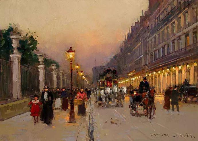 一生只描绘巴黎风情 法国画家Edouard Léon Cortès插图26