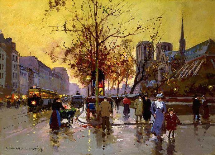 一生只描绘巴黎风情 法国画家Edouard Léon Cortès插图30