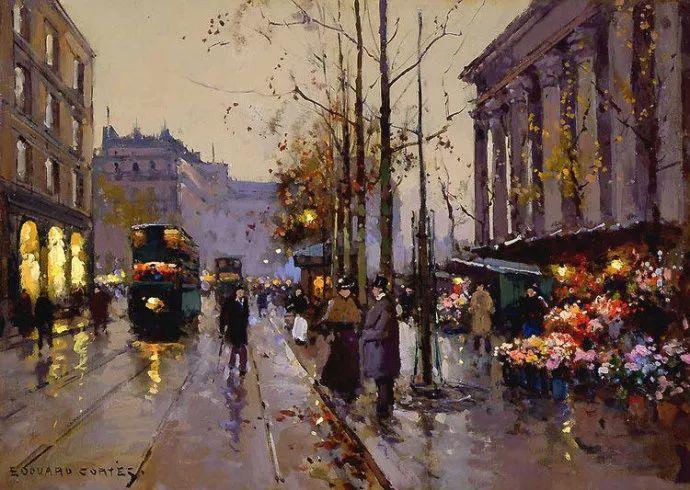 一生只描绘巴黎风情 法国画家Edouard Léon Cortès插图32