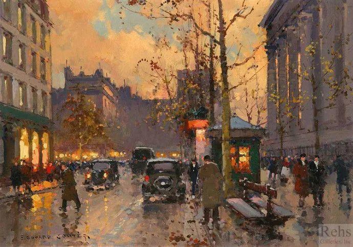 一生只描绘巴黎风情 法国画家Edouard Léon Cortès插图34