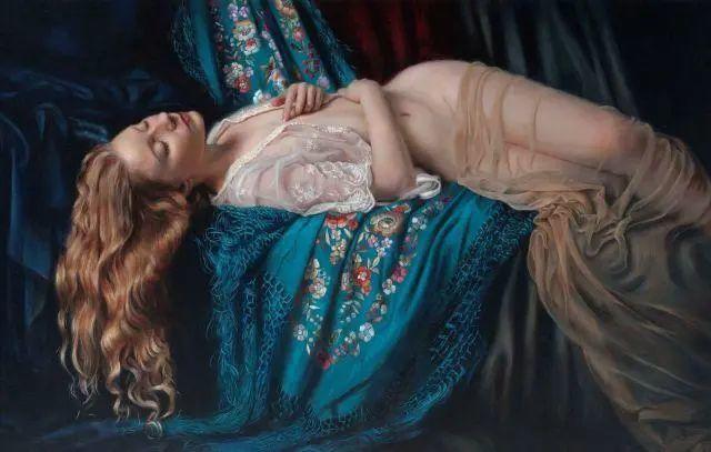清静宁谧,富有表现力,英国女画家Tina Spratt笔下的女性插图3