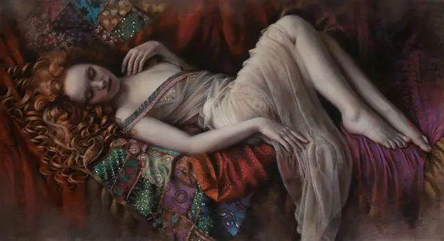 清静宁谧,富有表现力,英国女画家Tina Spratt笔下的女性插图5