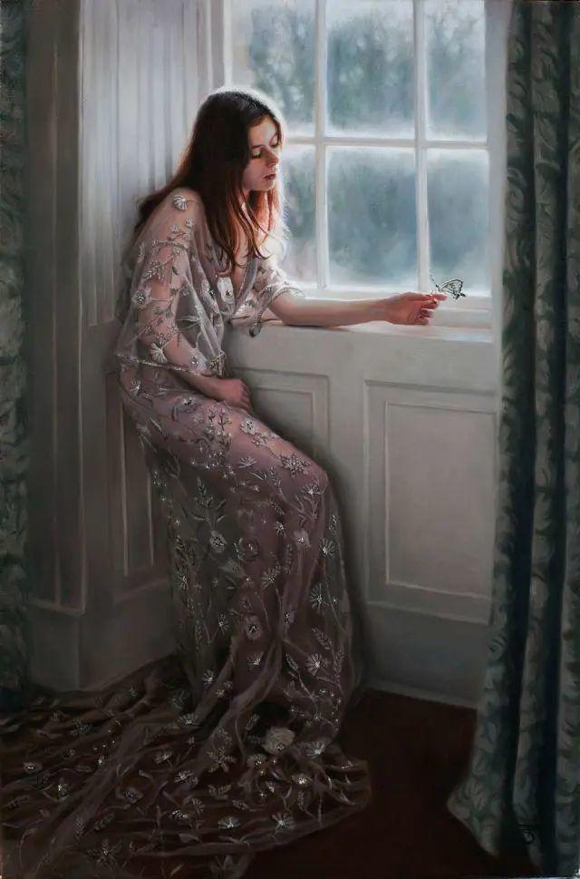 清静宁谧,富有表现力,英国女画家Tina Spratt笔下的女性插图7