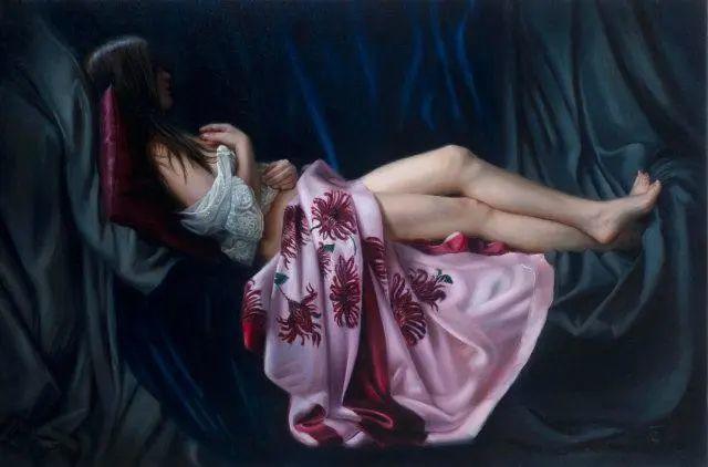 清静宁谧,富有表现力,英国女画家Tina Spratt笔下的女性插图13
