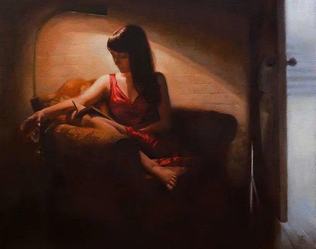 清静宁谧,富有表现力,英国女画家Tina Spratt笔下的女性插图17