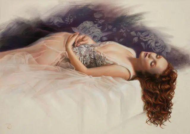 清静宁谧,富有表现力,英国女画家Tina Spratt笔下的女性插图23