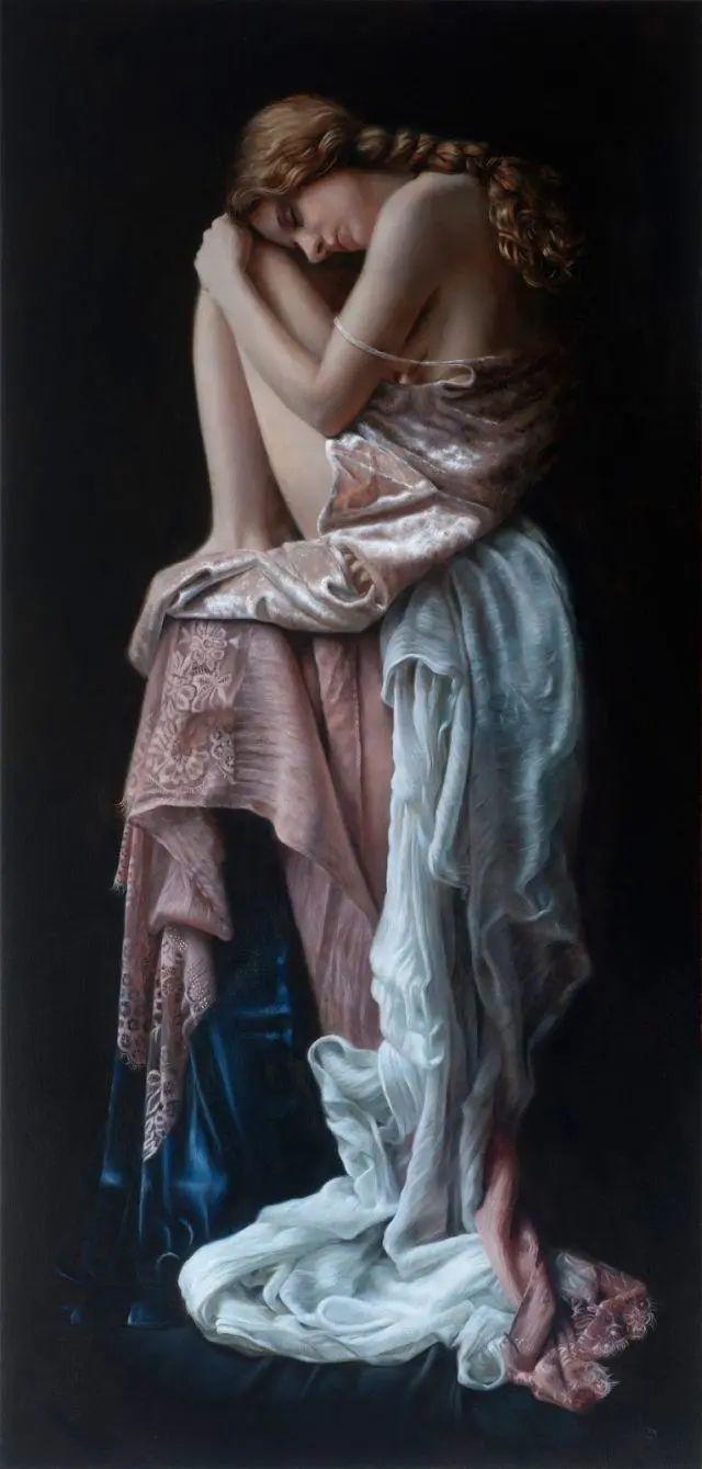 清静宁谧,富有表现力,英国女画家Tina Spratt笔下的女性插图25