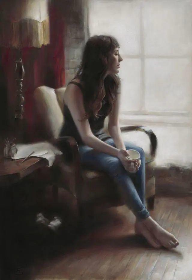 清静宁谧,富有表现力,英国女画家Tina Spratt笔下的女性插图27