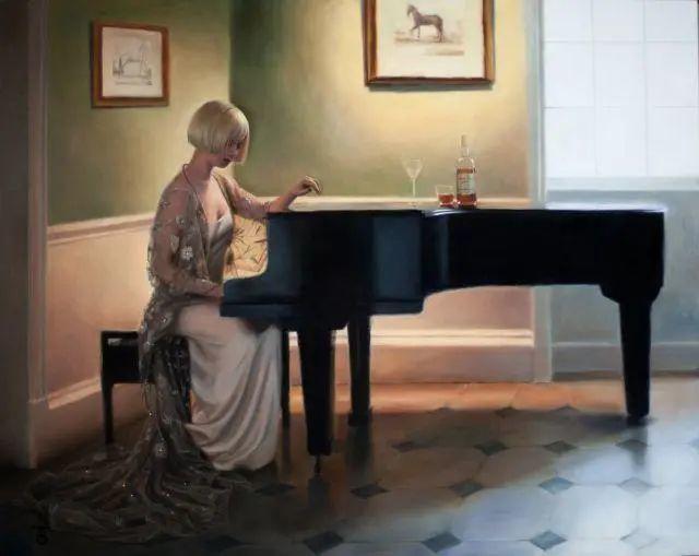 清静宁谧,富有表现力,英国女画家Tina Spratt笔下的女性插图34