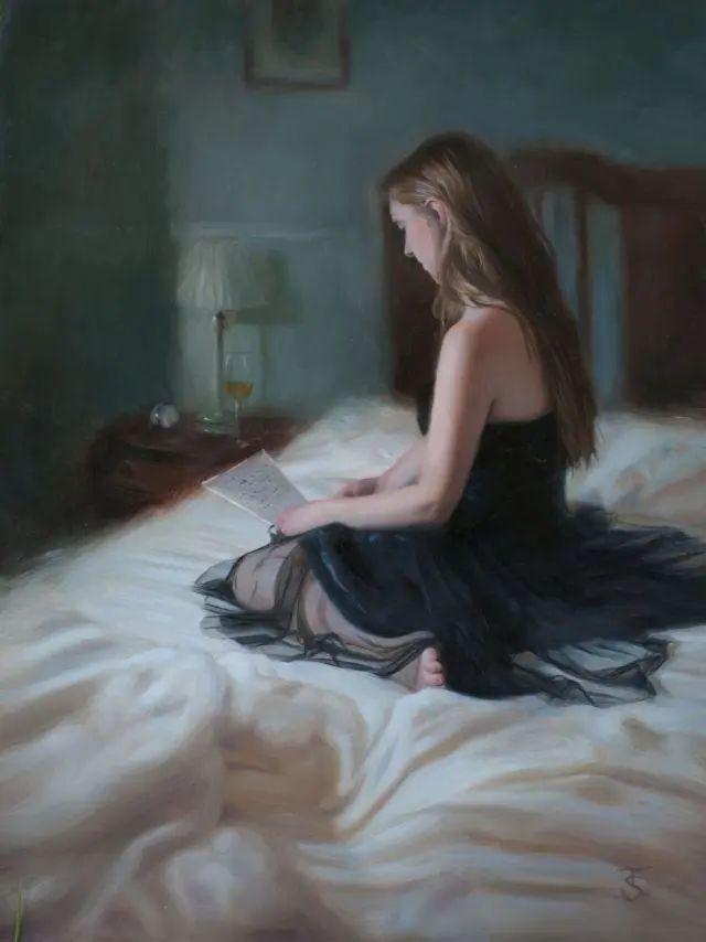 清静宁谧,富有表现力,英国女画家Tina Spratt笔下的女性插图38