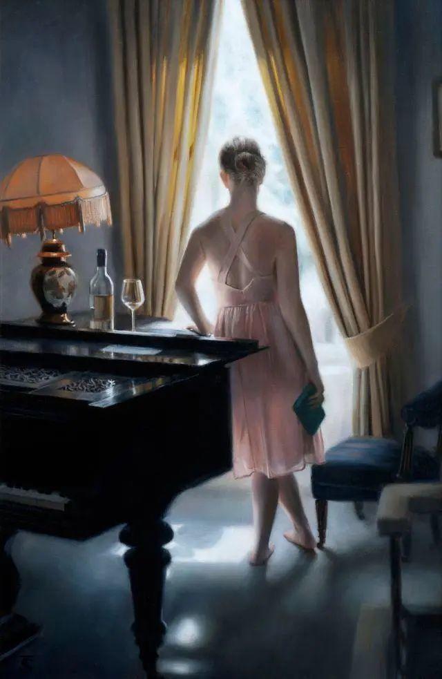 清静宁谧,富有表现力,英国女画家Tina Spratt笔下的女性插图40