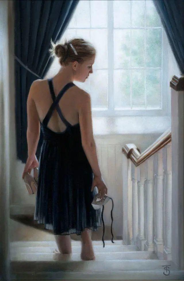 清静宁谧,富有表现力,英国女画家Tina Spratt笔下的女性插图42