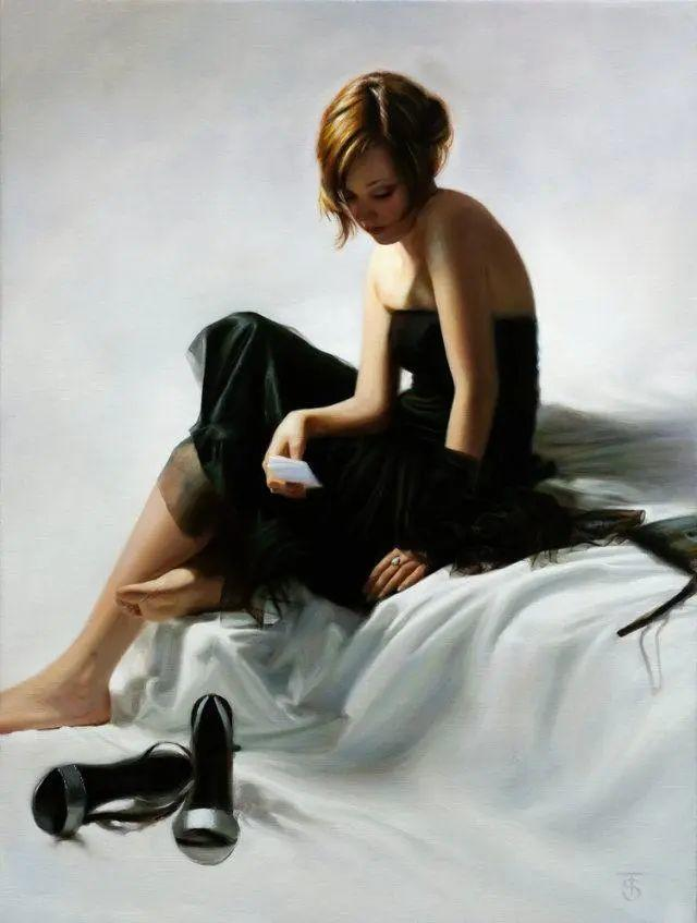 清静宁谧,富有表现力,英国女画家Tina Spratt笔下的女性插图50