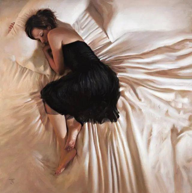 清静宁谧,富有表现力,英国女画家Tina Spratt笔下的女性插图54