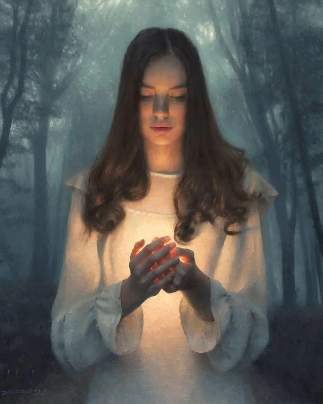 眼前一亮,模特与画像同框!波兰画家达米安·莱科斯特插图5