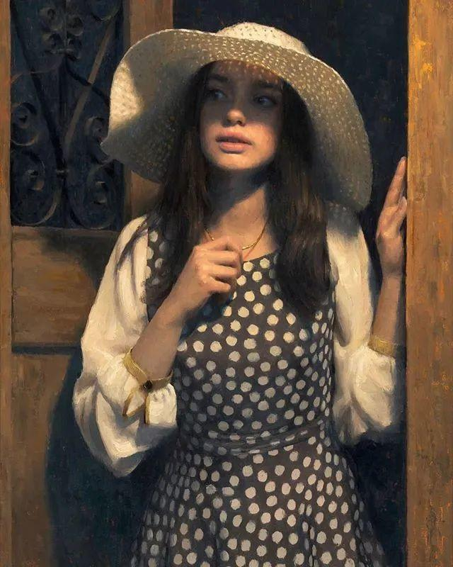 眼前一亮,模特与画像同框!波兰画家达米安·莱科斯特插图9