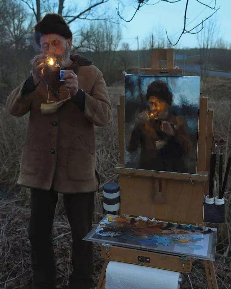 眼前一亮,模特与画像同框!波兰画家达米安·莱科斯特插图15