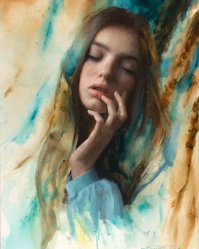 眼前一亮,模特与画像同框!波兰画家达米安·莱科斯特插图21