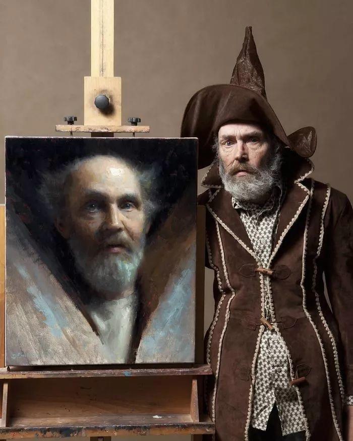 眼前一亮,模特与画像同框!波兰画家达米安·莱科斯特插图23