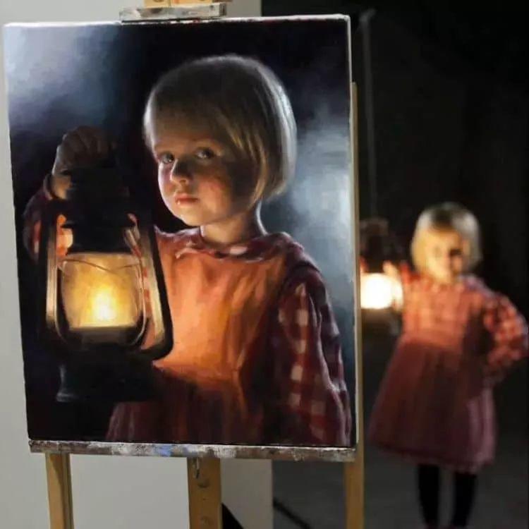 眼前一亮,模特与画像同框!波兰画家达米安·莱科斯特插图27